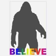 Believe in Bigfoot Wall Art