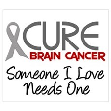 CURE Brain Cancer 2 Wall Art Poster