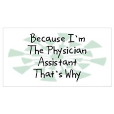 Because Physician Assistant Wall Art Canvas Art