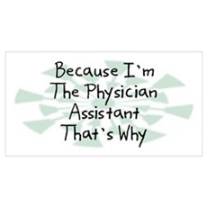 Because Physician Assistant Wall Art Poster