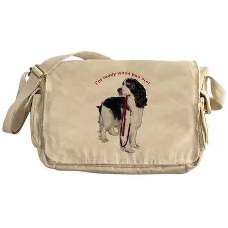Springer Spaniel pets Messenger Bag