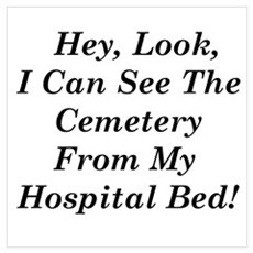 See Cemetery From Hospital Wall Art Poster