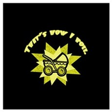 (Yellow) That's How I Roll Wall Art Canvas Art
