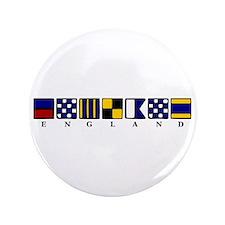 """Nautical England 3.5"""" Button"""