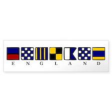 Nautical England Bumper Sticker