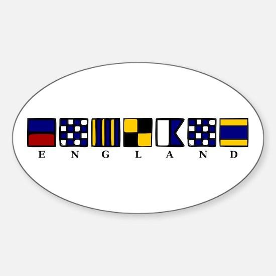 Nautical England Sticker (Oval)