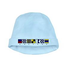 Nautical England baby hat