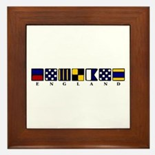 Nautical England Framed Tile