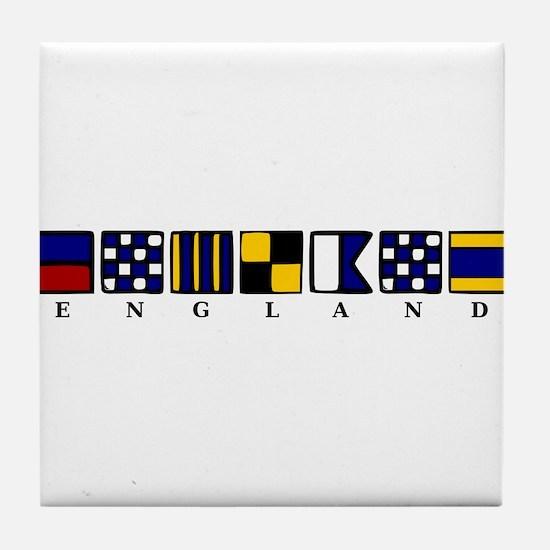 Nautical England Tile Coaster