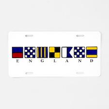 Nautical England Aluminum License Plate