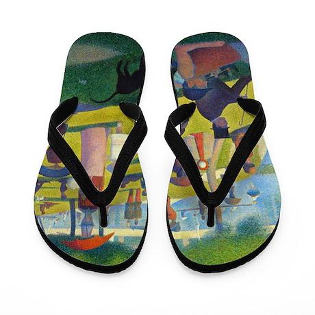 Seurat La Grande Jatte Flip Flops