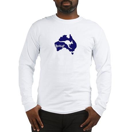 aussie_roo_blue_white-T Long Sleeve T-Shirt