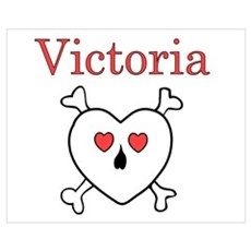 Victoria - Love Pirate Wall Art Framed Print