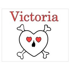 Victoria - Love Pirate Wall Art Poster