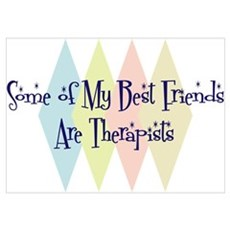 Therapists Friends Wall Art Poster