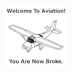 Aviation Broke Style B Wall Art Poster
