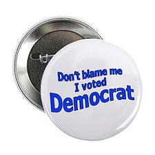 I Voted Democrat Button