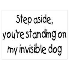 Step Aside, You're Standing On My Invisible Dog Fr Poster