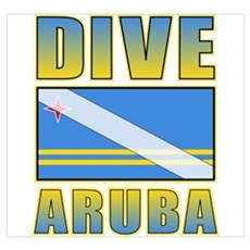 Scuba Dive Aruba Wall Art Poster