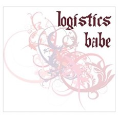Logistics Babe Wall Art Poster