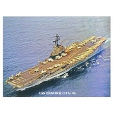 USS HANCOCK Wall Art Canvas Art
