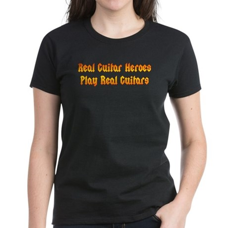 Real Guitar Heroes Women's Dark T-Shirt