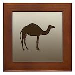 Classic Camel Framed Tile