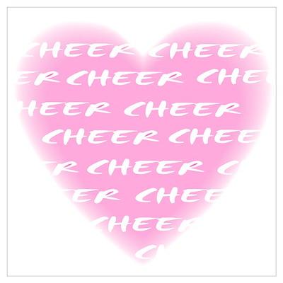 Cheer pink Wall Art Poster