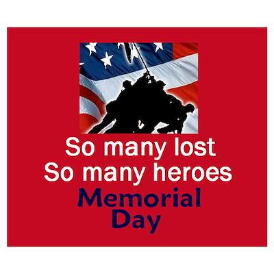 Memorial Day Wall Art Poster