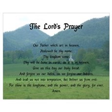 Lord's Prayer at Wolf Fork Valley Wall Art Framed Print