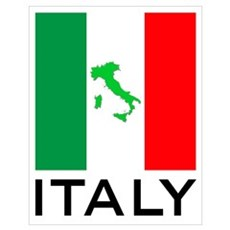 italy flag 01 Wall Art Poster