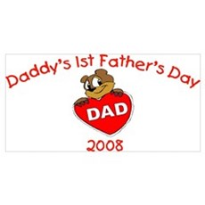 Daddy's 1st Father's Day (Bear) Wall Art Framed Print