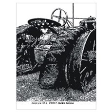 Old Tractors Wall Art Poster