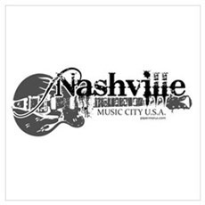 Nashville Wall Art Poster
