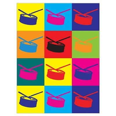 Snare Drum Pop Art Wall Art Poster