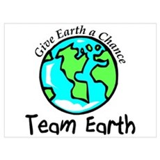 Team Earth Wall Art Poster
