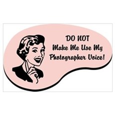 Photographer Voice Wall Art Poster