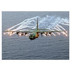 C-130 Hercules Wall Art Poster