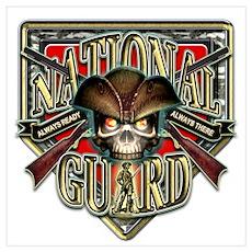 US Army National Guard Shield Wall Art Poster