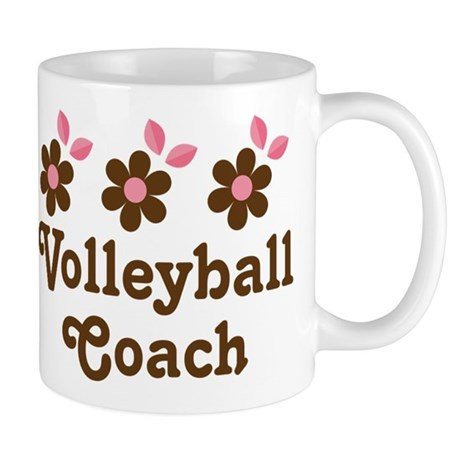 Volleyball Coach Flower Gift Mug