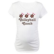 Volleyball Coach Flower Gift Shirt