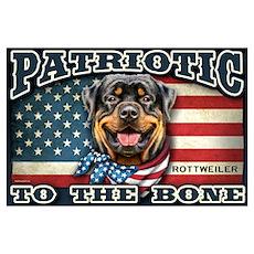 Patriotic - Rottweiler Wall Art Poster