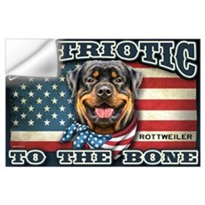 Patriotic - Rottweiler Wall Art Wall Decal