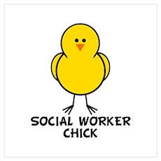Social Worker Chick Wall Art Poster