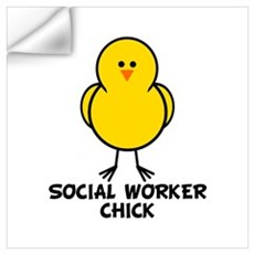 Social Worker Chick Wall Art Wall Decal