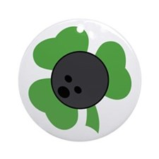 Irish Bowling Gift Ornament (Round)
