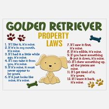 Golden Retriever Property Laws 4 Wall Art
