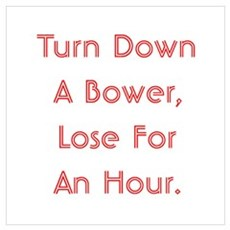 Turn Down Bower Wall Art Poster