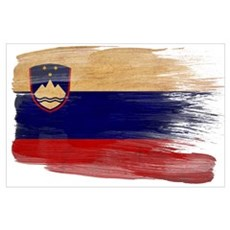 Slovenia Flag Wall Art Poster