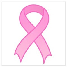 Breast Cancer Pink Ribbon Wall Art Poster